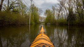Kayaking over Cibola Ave, Gibraltar Point, Toronto Islands