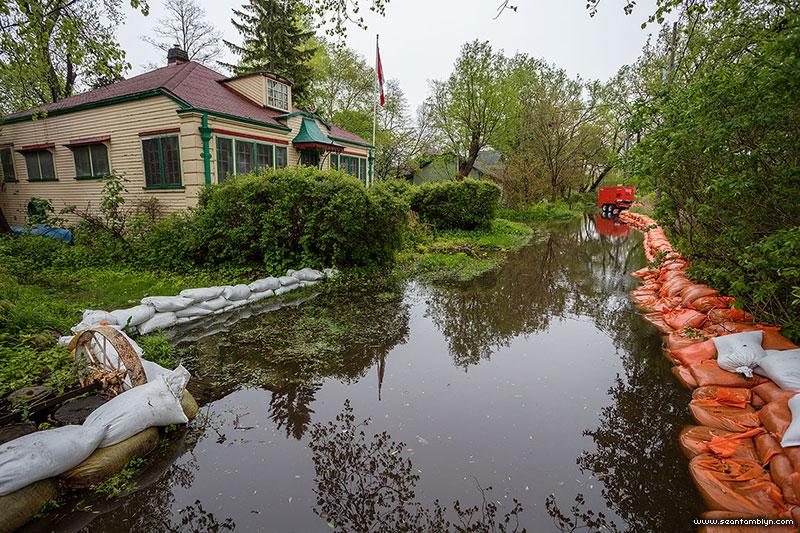 Flooded Bayview Ave, Ward's Island, Toronto Islands
