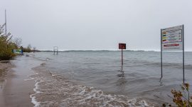 Flooded beach, Ward's Island, Toronto Islands
