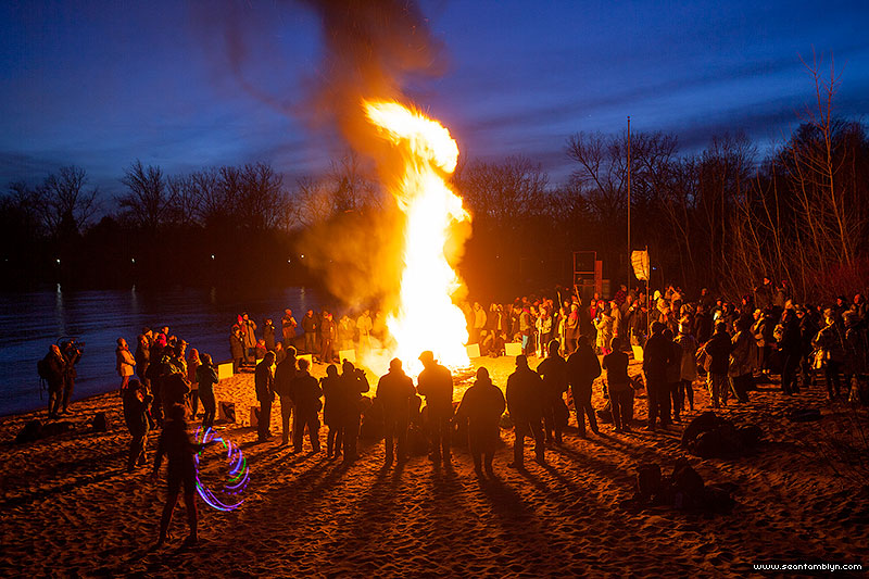 Equinox Bonfire 2018, Ward's Island, Toronto Islands