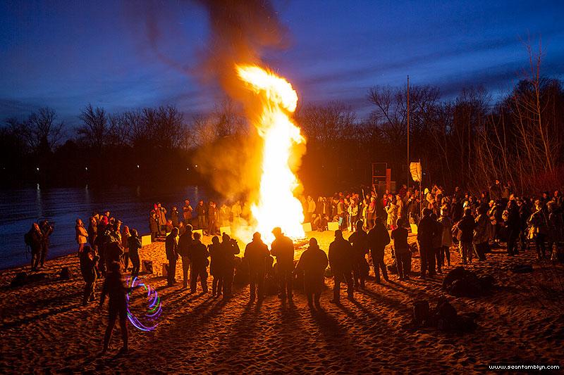 Equinox Bonfire 2018, Ward's Island, Toronto Islands