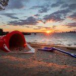 Nature's Sandbox by Thelia Sanders-Shelton, Rogue Wave 2018, Ward's Island, Toronto Islands