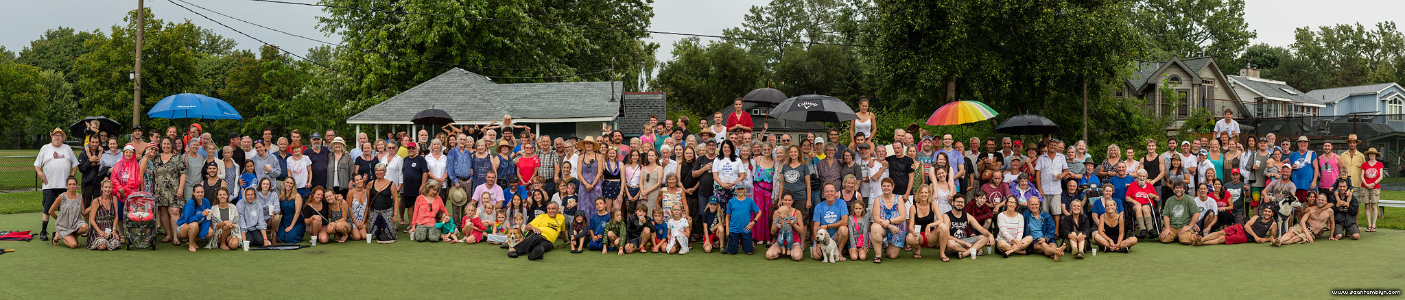 2018 community portrait panorama, Ward's Island, Toronto Islands