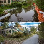 Bayview Ave before and after the Flood of 2017, Ward's Island, Toronto Islands