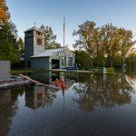 Flooded firehall, 235 Cibola Ave., Ward's Island, Toronto Islands