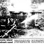 1989 Toronto Star Article, AIA Fire, Algonquin Island, Toronto Islands