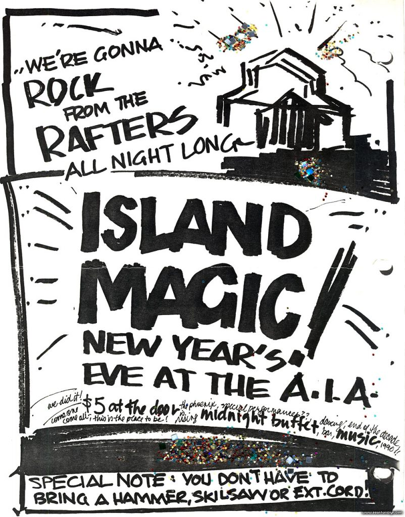 New Year's Eve Poster 1989, Algonquin Island, Toronto Islands