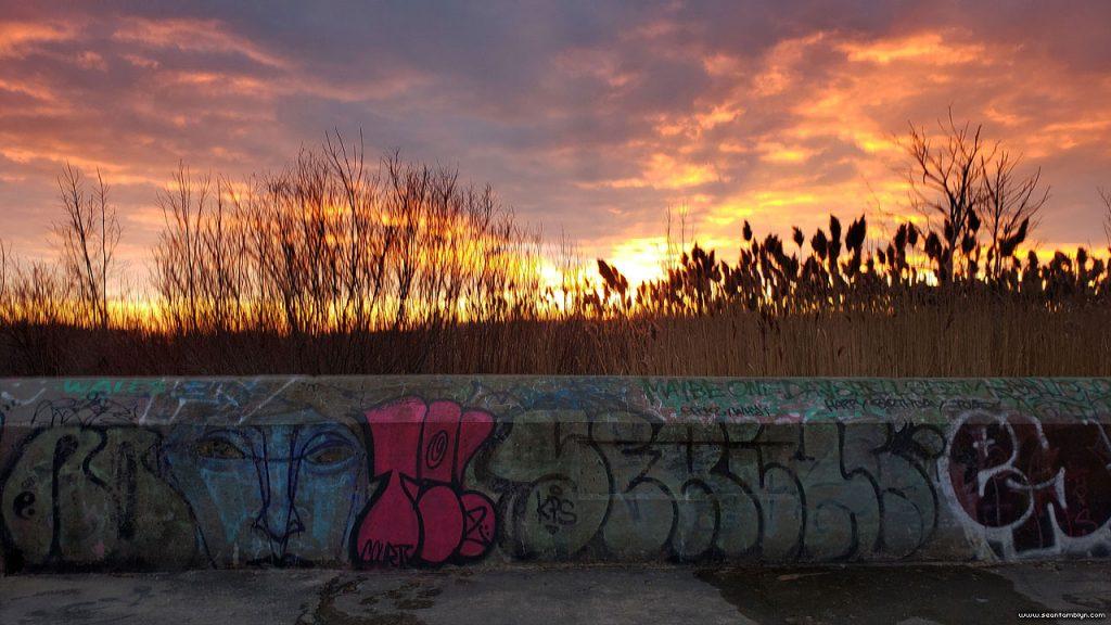 New Year's Eve sunset, Eastern Gap, Toronto Islands