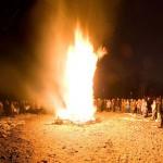 Bonfire, Ward's Island, Toronto Islands