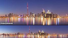 Toronto skyline panorama, Center Island, Toronto Islands