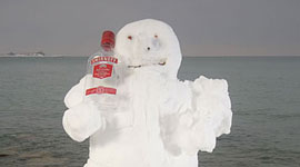 Smirnoff Snowman, Centre Island, Toronto Islands