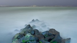Smoke on the Water, Ward's Island, Toronto Islands