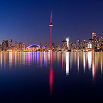 Toronto skyline panorama, Centre Island, Toronto Islands