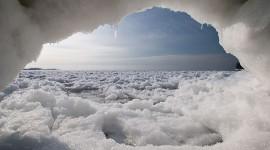 Ward's beach ice cave, Ward's Island, Toronto Islands