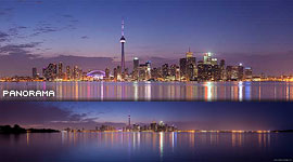 Toronto G20 skyline panorama, Centre Island, Toronto Islands