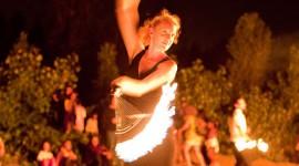 Fire performer, Fire Parade 2010, Toronto Islands