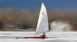 Hardwater sailing, Inner harbour, Toronto Islands