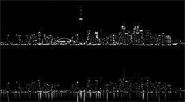 Earth Hour 2012 Toronto Skyline Luminosity Comparison, Centre Island, Toronto Islands