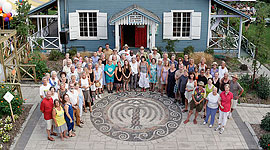 Willow Square mosaic unveiling, Ward's Island, Toronto Islands