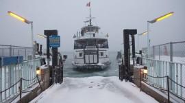 Ferry William Inglis in ice, Wards Island, Toronto Islands