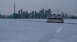 Ferry William Inglis in ice, Inner Harbour, Toronto Islands