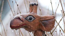 Icey giraffe, Ward's Island, Toronto Islands