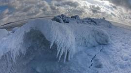 Frozen breakwall, Wards Island, Toronto Islands