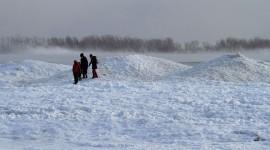 Climbing ice mountains, Ward's Island, Toronto Islands