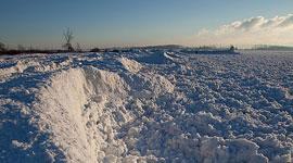 Ice covered beach, Ward's Island, Toronto Islands