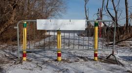 Boardwalk closed sign, Centre Island, Toronto Islands