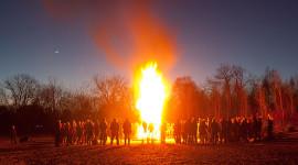 Equinox Bonfire 2015, Ward's Island, Toronto Islands