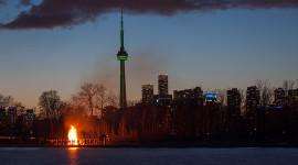 Equinox bonfire 2016, Ward's Island, Toronto Islands
