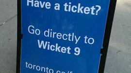 Advance lineup sign, Jack Layton Ferry Terminal, Toronto Islands