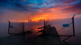 Epic sunset, Ward's Island, Toronto Islands