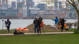 Media coverage of Bayview sandbagging, Ward's Island, Toronto Islands