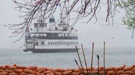 Ferry William Inglis and Bayview Dike, Ward's Island, Toronto Islands