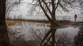 Flooded Eastern gap, Ward's Island, Toronto Islands