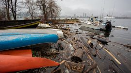 High water in the cove, Ward's Island, Toronto Islands